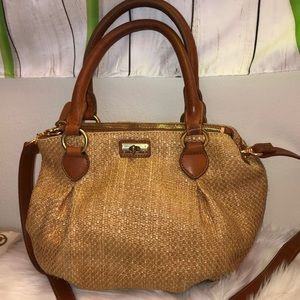 J Crew Woven Bag Crossbody Good Condition